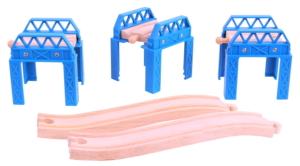 wooden construction support set