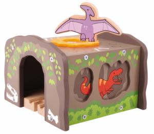 wooden dino t-rex tunnel
