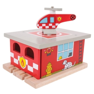wooden fire station shed