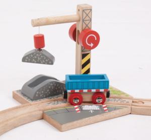 wooden gravel crane