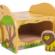 wooden safari lions den