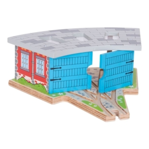 wooden triple engine shed
