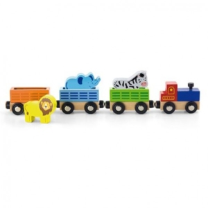 zoo animal wooden train